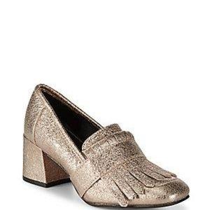 Kenneth Cole Mariel Leather Block Heels